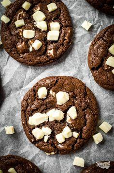 čokoládové cookies s bílou čokoládou Nutella, Quiche, Recipies, Cheesecake, Cookies, Chocolate, Food, Recipes, Crack Crackers