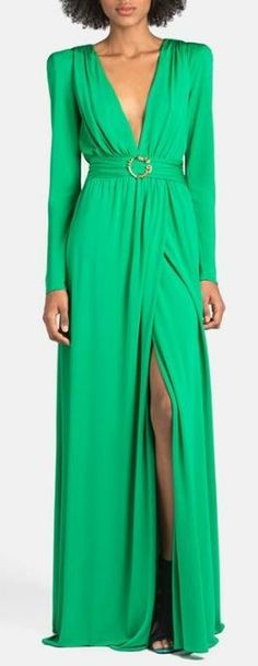 Deep V-Neck Jersey Gown by Emilio Pucci