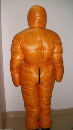 Shiny glossy nylon down suit overall winter coat expedition jacket hood wet-look Down Suit, Fleece Lined Hoodie, Winter Suit, Womens Wetsuit, Puffy Jacket, Wet Look, Overalls, Girls, Suits