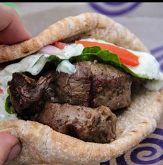 Recipe for Spicy Beef Gyros with Tzatziki Sauce