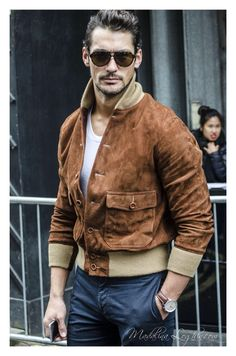 """day 3 at ""david gandy: the definition of a gentleman&quo David Gandy, Johnson Tsang, Androgynous Models, Gentleman Style, Men Looks, Distressed Denim, Male Models, Beautiful Men, Men Sweater"