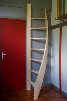 SCALE Helical Mezzanine - Sale of customized kit stairs in Bordeaux .HELICAL Mezzanine ladder - Sale of customized kit stairs in Bordeaux - STAIRFabulous The 25 best ideas in the Retractable Stair category on Stair Ladder, Stair Railing, Wooden Ladder, Attic Stairs, House Stairs, Attic Renovation, Attic Remodel, Attic Storage, Garage Storage