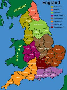 Counties of England Map Of Cornwall England, Cornwall Map, England Map, Map Of Britain, Great Britain, European History, British History, Middle Earth Map, Birmingham England