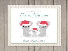 Gepersonaliseerde Kerstkaart  familie koala door SophiesLoveBirds