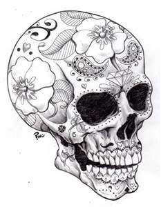 Beautiful Skull Coloring Pages for Adults - Bing images