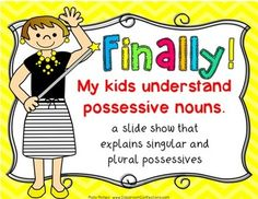 Great book for possessive nouns classroom ideas pinterest possessive nouns mini lessons with activities finally my kids understand possessive fandeluxe Gallery