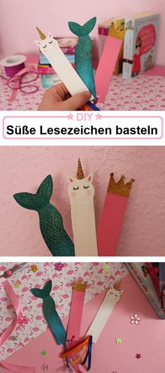 Ich zeige dir, wie du solche süße Lesezeichen ganz einfach selber basteln kannst. Ideal als Last Minute DIY Geschenk Idee. Einhorn, Mermaid und Princess DIY. Diy Blog, Disney Diy, Twinkle Twinkle, Art For Kids, Cinderella, Cards, Wrap Gifts, Last Minute Gifts, Baby Favors