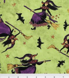 Holiday Inspirations Fabric-Flying Witches : holiday fabric : fabric :  Shop | Joann.com