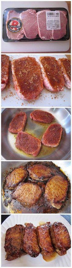 Glazed pork chops: Full Recipe