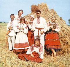 Belarusian costumes. Belarus.