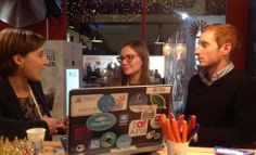 Invest in France team visiting the PREDA stand at LeWeb'13