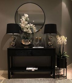 Double tap if you love this home. Home Living Room, Living Room Designs, Living Room Decor, Decoration Bedroom, Entryway Decor, Foyer, Flur Design, Design Design, Hallway Designs