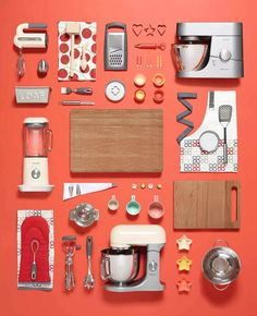 John Lewis NKU | Victoria Ling Flat Lay Photography, Still Life Photography, Photography Photos, Product Photography, Food Typography, Things Organized Neatly, Survival Food, Survival Kit, Prop Styling