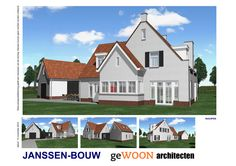 Mooie villa te bouwen in Rucphen #landelijk #houtskeletbouw Houses, Mansions, House Styles, Home Decor, Homes, Decoration Home, Manor Houses, Room Decor, Villas