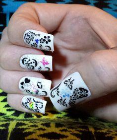 My white nails