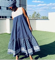 Fashion Tips Bags lovely shweshwe dresses of south african.Fashion Tips Bags lovely shweshwe dresses of south african Seshweshwe Dresses, African Wear Dresses, African Attire, Elegant Dresses, Sotho Traditional Dresses, African Fashion Traditional, Traditional Outfits, African Print Fashion, Africa Fashion