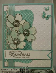 Designs by Sharon: Kindness in Blue