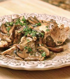 Balsamic Cream Chicken with Mushrooms