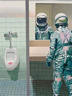Wall Art - Painting - Men's Room by Scott Listfield Stretched Canvas Prints, Canvas Art Prints, Framed Prints, Thing 1, Man Room, Galaxy Art, Lovers Art, Fine Art America, 2014 Chevy