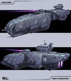 Spacecraft by sEvher on DeviantArt Spaceship Art, Spaceship Design, Spaceship Concept, Concept Ships, Concept Art, Star Wars Rpg, Star Wars Ships, Star Trek, Science Fiction