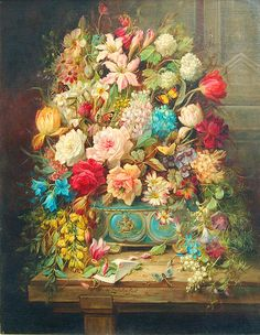stilllife with flowers and butterflies by hans zatzka   sofi01, via Flickr