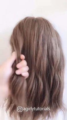 Hairdo For Long Hair, Bun Hairstyles For Long Hair, Cute Hairstyles, Curly Hair Dos, Heatless Hairstyles, Dance Hairstyles, Updo Hairstyle, Everyday Hairstyles, Hair Tutorials For Medium Hair