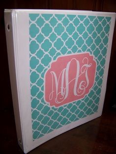 template for cute custom monogrammed printables