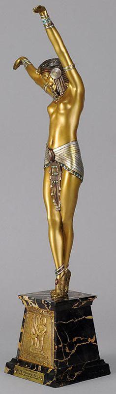 Demetre Chiparus - Art Déco - Sculpture 'Danseuse égyptienne'