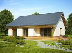 DOM.PL™ - Projekt domu FA LUKRECJA CE - DOM GC6-03 - gotowy koszt budowy Compact House, Home Fashion, Gazebo, Shed, Outdoor Structures, Cabin, Windows, House Styles, Outdoor Decor