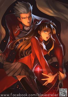 Fate Stay Night Unlimited- Archer and Rin by Sobachan on DeviantArt