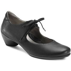 Ecco Women's Sculptured Lace Mary Jane Black $140.00 Shoes- This lace tie style was very popular in the 1920s. Great shoes! http://www.vintagedancer.com/1920s/buy-1920s-shoes-for-women/