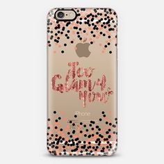 """Too Glam 4 You - Rose Gold Blush Pink and Black"" by Artist Julia Di Sano, Ebi Emporium on @casetify, Rose Gold #Shimmer Color Sparkle #Glamorous #Chic #PolkaDots #Typography Quote #Style #Fashion #Feminine Modern #Girly Pattern Lovely Art #iPhoneCase #iPhone5 #iPhone6 #iPhone6s #iPhone6plus #iPhone6sPlus #iPhone5c #SamsungGalaxy #android #tech #shimmer #glam #sparkle #transparent #case #gold #metallic #rosequartz"