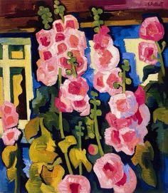 Karl Schmidt-Rottluff (1884-1976) - Malven am Haus, 1926