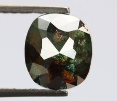 1.12 Ct, 7.0 X 6.2 X 3.0 MM, Cushion Shape Green Color Loose Beautiful Diamond, Fancy Antique Diamond Jewelry, Use For Wedding Ring, R560 by RusticDiamondWorld on Etsy