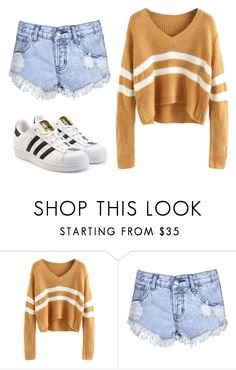 """""""Untitled #230"""" by lauratavaresouza ❤ liked on Polyvore featuring Glamorous and adidas Originals"""