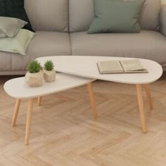 Tidyard Set of 2 Nesting Coffee End Tables ❤ These high-quality wood espresso tables are charming items of furnishings within the Scandinavian type. They'll make an awesome addition to your front room or lounge room. Nesting End Tables, Coffee And End Tables, Nesting Coffee Table, Table Furniture, Living Room Furniture, Modern Furniture, Hallway Furniture, Furniture Dolly, Furniture Movers