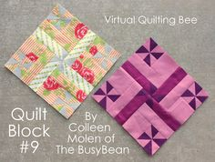 Virtual Quilting Bee Tutorial - Block #9 - Diary of a Quilter - a quilt blog