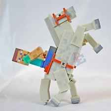 New! MINECRAFT Overworld Steve and White Horse Action Figure Toy Set By Jazwares