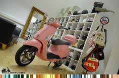 Vespa Primavera Pink 50ccm mit TopCase
