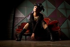 Steampunk style on the couch. Our steampunk pic of the day, by Chris Balance Steampunk Movies, Steampunk Store, Steampunk Costume, Steampunk Fashion, Steampunk Photography, Steampunk Sunglasses, Neo Victorian, Goth Art, Steam Punk