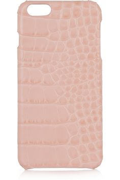 Blush leather (Calf) Compatible with iPhone 6 Plus  Designer color: Nude Made in Italy