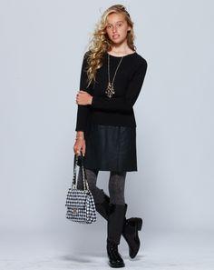 Yana Dress + Sparkle Tights + Gingham Purse | Pavement United Brands