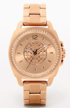 Coach Rose Gold Watch. It's everything I have ever wanted. (sigh)
