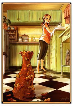 Yaoyao Ma Van As, cane, Yaoyao Ma Van As illustrazioni, Yaoyao Ma Van As illustration, Yaoyao Ma Van As living with a dog Cartoon Kunst, Cartoon Art, Art And Illustration, Website Illustration, Living With Dogs, Art Mignon, Art Watercolor, Drawn Art, Girl And Dog