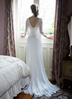 Beautiful Beaded Wedding Dress| NZ Designer | Anna Schimmel