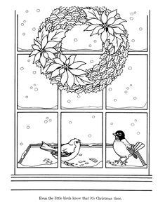 Christmas Flower Bouquet with Greeting Card coloring page Super