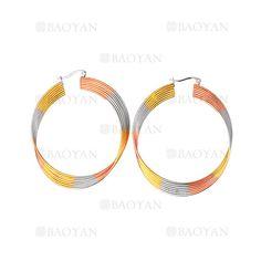 50*57MM aretes de ronda de tres colores en acero-SSEGG264417