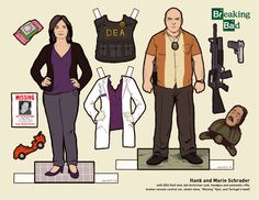 Breaking Bad, Paper Dolls, walter white, jesse pinkman, gus fring