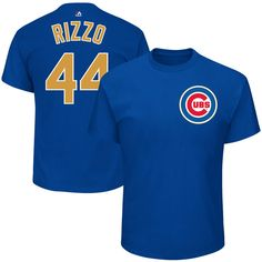 6b4616545f7 Anthony Rizzo Chicago Cubs 2017 Gold Program T-Shirt  ChicagoCubs  Cubs   FlyTheW