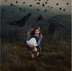 A Novel | Arrival of the Birds ❧ Emmeline as a child with the caladrii